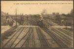 33--SAINT YZAN DE SOUDIAC---Vue Générale Des Voies Et De La Gare (coté Saintes) Beau Plan Machine - Autres Communes