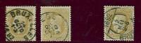 Belgique - No 32 (x3) Oblitérés Bxl, Liège Et Oblitération Elliptique 12 Mai 1882 De Bxl, Voir Scan , Pièces Luxe, TB - 1869-1883 Leopold II.
