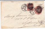 VICTORIA - ENVELOPPE ENTIER VOYAGEE De MELBOURNE Pour SYDNEY - 1890 - 1850-1912 Victoria