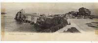 BIARRITZ .Le Rocher De La Vierge. Carte Panoramique 28 X 11 - Biarritz