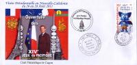 Nouvelle Caledonie Cachet Commemoratif Visite Preisdent Republique Sarkozy XIV Jeux Pacifique 27/8/11 TB - Non Classés