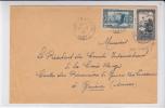 ALGERIE - 1940 - YVERT N° 114+133 Sur LETTRE De FORT NATIONAL Pour GENEVE CROIX-ROUGE (SUISSE) - PRISONNIERS De GUERRE - Algérie (1924-1962)