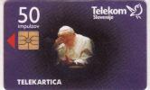 Slovenie, Chip 50 Units, Pope John Paul II, - Slovénie