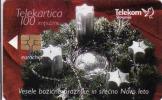 Slovenie, Chip 100 Units, Christmas, Petit Tirage - Slovénie