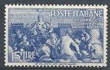 1946 ITALIA AVVENTO 15 LIRE MH * - RR9087-2 - 1946-60: Nuevos