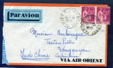 =*= Paix 289x2 Sur Lettre Paris>>>>Longxuyen Indochine Par Avion 18 1 1933 =*= - France