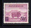 Australia Scott #190 Mint Hinged 5 1/2p Surcharge On 5p Merino Sheep - 1937-52 George VI