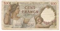 Billet , 100 Francs , Cent , SULLY , 12-10-1939 , 224 , - 1871-1952 Anciens Francs Circulés Au XXème
