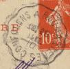 CACHET CONVOYEUR CONFOLENS A ROUMAZIERES CHARENTE - Spoorwegpost