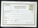Deutsches Reich Böhmen Und Mähren Ganzsache Telegramm Aufgabeschein.TA 1  Xx Mi 37,50 - Covers & Documents