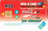 SOUTH AFRICA - Coca Cola Cup 2002, Telkom Telecard, Used - Afrique Du Sud