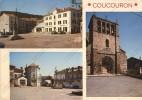 COUCOURON Ardèche 07 : Multivues Commerce Boucherie Mairie Hotel Eglise - France