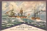 CPA De L'Histoire De La LOCOMOTION - Paquebot Mixte à Roues (1860) / Bateau à Hélice (1842). - Steamers
