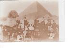 Caravan Of Travelers Tourists Egypt Pyramid Sphinx - Unclassified