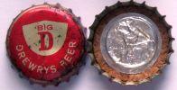 Drewry's Beer Big D USA  Beer Bottle Top Crown Cap Kronkorken Capsule Tappi Chapa Cork - Bière