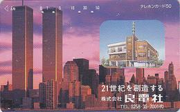Télécarte Japon / 110-79517  - Site USA - NEW YORK WORLD TRADE CENTER WTC -  Japan Phonecard - 72 - Landscapes