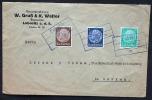 Deutsches Reich Böhmen Und Mähren Brief Von Lobositz Nach Görkau - Covers & Documents