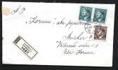 Deutsches Reich Böhmen Und Mähren E-Brief Von Pardubitz Nach Prag - Covers & Documents