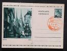 Deutsches Reich Böhmen Und Mähren Ganzsache P6 Mit Rotem Stempel Blanco Rückseite Schürfungen Ansehen! - Covers & Documents