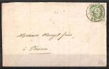 30 S/lettre De Haltinnes-Haulchin Pour Verviers. - 1869-1883 Leopold II
