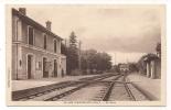 Cp , 18 , LES AIX D'ANGILLON , La Gare , écrite - Les Aix-d'Angillon