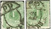 Belgique - No26 (x2) Oblitéré Anvers, Sans Millésime, Double Ellipse Pour Imprimés, PP Dans Segment, TTB - 1869-1888 Lion Couché (Liegender Löwe)