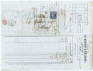 France, Lettre 185 De Granville  A Elbeuf Par Caen, Nr 4, Grille 1441 Et Cachet A Date - 1849-1850 Ceres