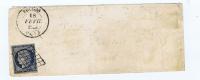 France, Lettre 1851 De Fruges A Paris, Nr 4, Grille  Et Cachet A Date - 1849-1850 Cérès