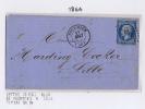 France Lettre 1864,  Nr 14 De Fourmies A Lille , Losange PC 1323, Petit Cachet A Date - 1853-1860 Napoleon III