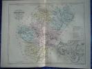 -Malte Brun-1854-Carte Géographique De La Charente-Plan D'Angouléme- - Mapas Geográficas