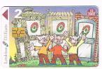 LETTONIA (LATVIA) - LATTELEKOM (CHIP) -    2001 I TRE PORCELLINI ( THREE LITTLE PIGS)     - USED  -  RIF. 5227 - Latvia