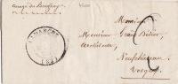 4600# LETTRE Datée De DAMBLAIN Obl LAMARCHE 1850 VOSGES T14 BOITE RURALE Pour NEUFCHATEAU - Postmark Collection (Covers)