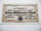 10 Billionen---  10000 000000 Milliarden - [ 3] 1918-1933 : République De Weimar