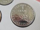 2001 - 1 Franc Semeuse - Fdc - Scellée Du Coffret - France
