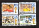GRE. OF ST.VINCENT 709-12  MNH FOOTBALL-SOCCER 1990 ITALIA - Soccer