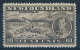 NEWFOUNDLAND/CANADA 1937 Additional Coronation 10c Perf 14 Line MNH** - 1908-1947