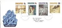 Singapore FDC 1972, Art Series, Paintings - Singapore (1959-...)