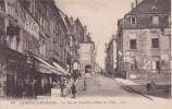 """Cp12 """" Luxeuil Les Bains La Rue Du Centre Et L'hôtel De Ville """" - Luxeuil Les Bains"""