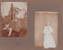 Deux Photos Femme Belge Belgique Année 1930-1931. 7 X11 Cm