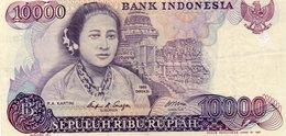 Indonesia 10000 Rupiah 1985 Banknote, VF - Indonésie