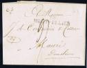 France Lettre 1820, Cachet 33 Montpellier A Mauzé - Poststempel (Briefe)