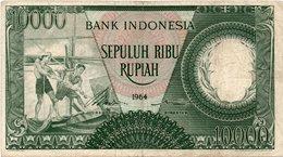 INDONESIA 10000 RUPIAH 1964 PICK # 99 VF. - Indonésie