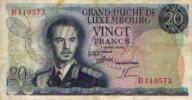 LUXEMBOURG - 20 Fr - 7 Mars 1966 - Luxembourg