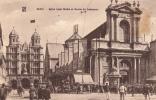 Dép. 21 - DIJON. - Eglise Saint-Michel Et Bourse Du Commerce. Très Animée. - Dijon