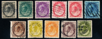 Canada (Scott No.   74-84 - Serie Numérique / Victoria / Numeral Issue) (o) TB / VF - VC $385 CV - 1851-1902 Reign Of Victoria