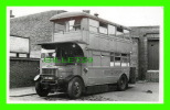 PHOTO - TROLLEY BUS , NS -  STAFF CANTEEN - LONDON TRANSPORT - PLATE No  YT 4819 - - Photos