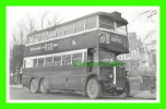 PHOTO - TROLLEY BUS , LT 1383 - LONDON TRANSPORT - PLATE No GX 5341 -  THE PSV CIRCLE - - Photos