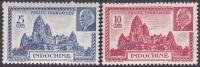 Détail De La Série Maréchal Pétain ** Indochine N° 222 Et 223 Temple D'Angkor - 1941 Série Maréchal Pétain