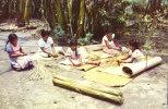 Waeving Mats (Petates) In The Town Of San Pedro Perulapan - El Salvador