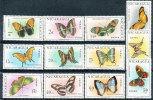 NICARAGUA 1967 BUTTERFLIES SET CPL SC# C606-617 VF MNH - Nicaragua